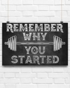 Fitness remember why you started poster5