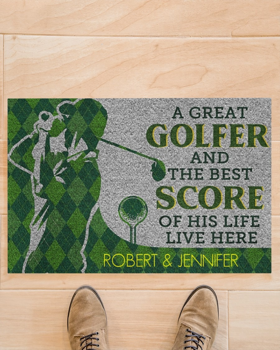[LIMITED] A great golfer and the best score of his life live here doormat
