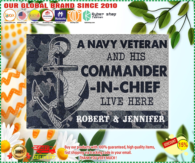 [LIMITED] A navy veteran and his commander in chief live here doormat