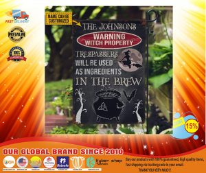 Warning Witch Property Trespassers will be used in a brew custom name flag4