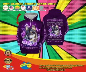 Wolf November girl not mistake my kindness for weakness custom name 3d hoodie4