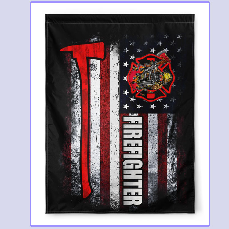 [LIMITED] American Firefighter house and garden flag