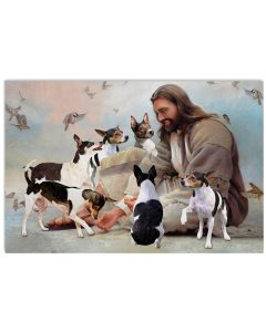 11 God surrounded by Rat Terrier angels Gift for you Horizontal Poster 1