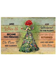 13 And when life became too frenzied she came to her garden Horizontal Poster 1