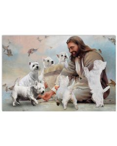 18 God surrounded by Westie angels Gift for you Horizontal Poster 1
