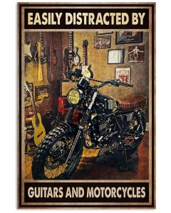 21 Easily distracted by guitars and motorcycles Vertical Poster 1