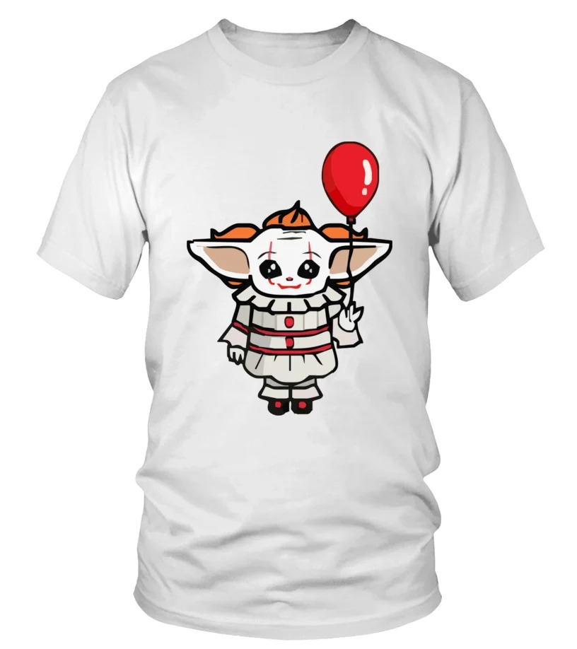 IT pennywise Baby Yoda 3d shirt