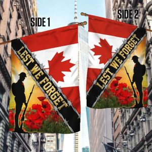 Canada Veteran Remembrance Day Poppy Lest We Forget Flag 2