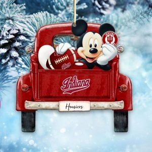 Mickey Mouse Indiana Hoosiers Ornament