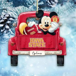 Mickey Mouse Iowa State Cyclones Ornament