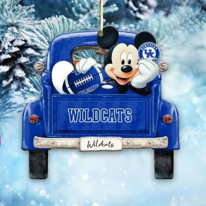 Mickey Mouse Kentucky Wildcats Ornament