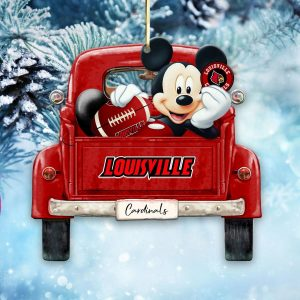 Mickey Mouse Louisville Cardinals Ornament