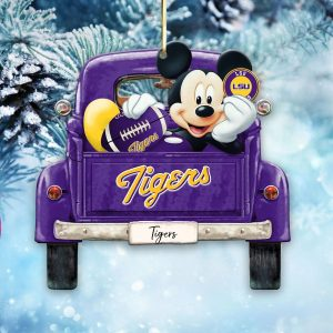 Mickey Mouse Lsu Tigers Ornament
